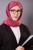 Donna musulmana di affari Fotografia Stock Libera da Diritti