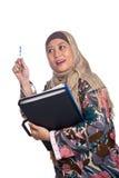 Donna musulmana matura nella posa di pensiero Immagini Stock Libere da Diritti