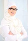 Donna musulmana sicura Fotografie Stock