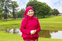 Donna musulmana sorridente. Fotografie Stock Libere da Diritti