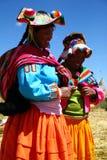 Donna natale di Uros, Perù fotografie stock libere da diritti