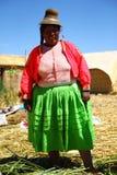Donna natale di Uros, Perù immagine stock libera da diritti