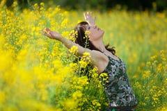 Donna in natura Fotografia Stock