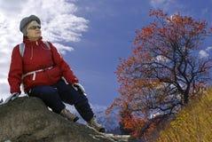Donna in natura Fotografie Stock