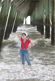donna nautica fotografie stock libere da diritti