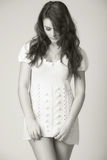 Donna nel bianco Fotografia Stock Libera da Diritti