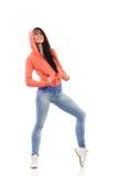 Donna nel cappuccio Fotografie Stock Libere da Diritti