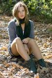 Donna nel colore di autunno Immagine Stock Libera da Diritti