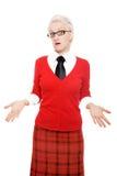 Donna nel colore rosso Immagine Stock Libera da Diritti