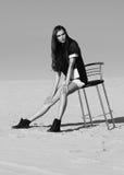 Donna nel concetto dell'editoriale di alta moda Fotografie Stock Libere da Diritti