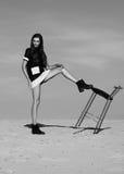 Donna nel concetto dell'editoriale di alta moda Immagine Stock Libera da Diritti