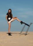 Donna nel concetto dell'editoriale di alta moda Immagini Stock Libere da Diritti