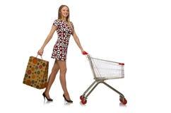 Donna nel concetto di acquisto Fotografia Stock Libera da Diritti
