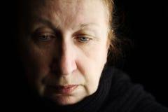 Donna nel dispiacere Fotografia Stock Libera da Diritti