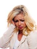 Donna nel dolore Fotografia Stock