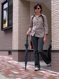 Donna nel paese Fotografia Stock Libera da Diritti