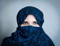 Donna nel paranzhe Immagini Stock Libere da Diritti