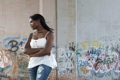 Donna nel pensiero Fotografia Stock