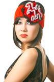 Donna nel retro cappello Fotografia Stock Libera da Diritti