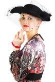 Donna nel retro stile. Fotografia Stock