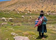 Donna nel Sudamerica Fotografia Stock