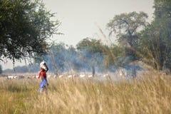 Donna nel Sudan del sud rurale Fotografie Stock Libere da Diritti