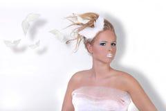 Donna nel trucco estremo di bellezza Fotografia Stock Libera da Diritti