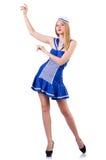Donna nel vestito di marinaio Fotografia Stock Libera da Diritti