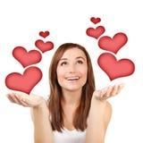Donna nell'amore Fotografie Stock Libere da Diritti