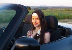 Donna nell'automobile Fotografia Stock