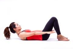 Azione di Pilates Immagine Stock