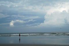 Donna nell'oceano Fotografia Stock