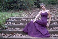 Donna nella caduta fotografie stock libere da diritti