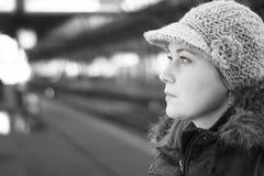 Donna nella città fotografia stock libera da diritti