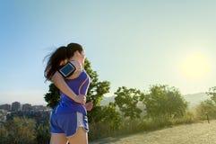 Donna nella corsa Fotografia Stock