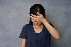 Donna nella depressione Immagini Stock Libere da Diritti
