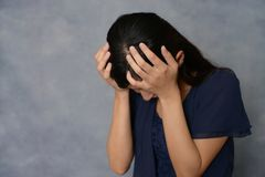 Donna nella depressione Immagine Stock