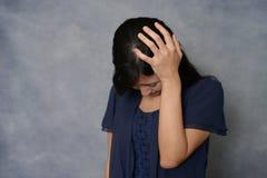 Donna nella depressione Fotografia Stock