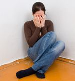 Donna nella depressione Fotografie Stock Libere da Diritti