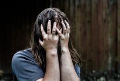 Donna nella depressione Fotografie Stock