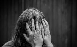 Donna nella depressione Immagini Stock
