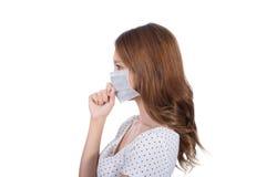 Donna nella maschera immagini stock