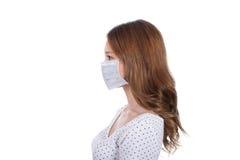 Donna nella maschera fotografie stock libere da diritti