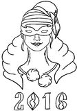 Donna nella maschera Immagini Stock Libere da Diritti