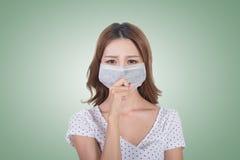 Donna nella maschera fotografie stock