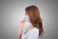 Donna nella maschera fotografia stock libera da diritti