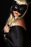 Donna nella mascherina Immagine Stock