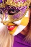 Donna nella mascherina mezza Immagine Stock Libera da Diritti