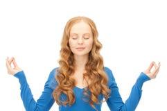 Donna nella meditazione fotografia stock libera da diritti