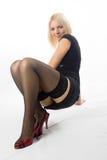 Donna nella posa sexy Fotografie Stock Libere da Diritti